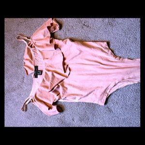 Blush Ruffled Body Suit
